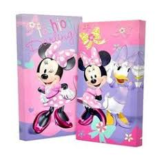 Disney Minnie Mouse And Daisy Canvas Wall Art Colorful Picture 2 Pack 7 X 14