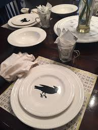 Simple And Sophisticated Halloween Table Decor ⋆ So Many Somedays Vintage Halloween Colcblesdecorations For Sale Pottery Barn Host Your Party In Style Our Festive Dishes Inspiration From The Whimsical Lady At Home Snowbird Salad Plates Click On Link To See Spooky Owl Bottle Stopper Christmas Thanksgiving 2013 For Purr03 8 Ciroa Wiccan Lace Dinner Salad Plates