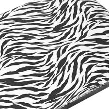 Zebra Print Night Light Bedroom Bath Decor Black White On PopScreen