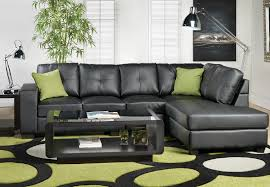Sofia Vergara Collection Furniture Canada by Living Room Comfortable Black Leather Sectional Sofa And Green