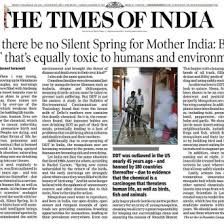 Let There Be No Silent Spring For Mother India Ban DDT Thats Equally Toxic