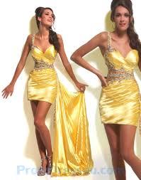 buy tailor made taffeta yellow handmade beading sweetheart prom