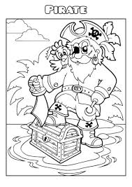 Pirate Coloring Book Template