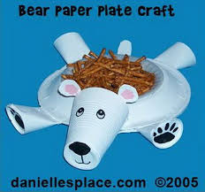 Polar Bear Dessert Dish Craft For Kids Made With Paper Plate And Cups