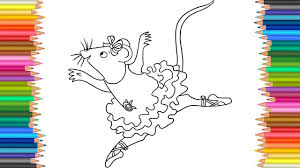 Colours For Kids Ballerina The Dancing Mouse Hippo Elephant Coloring Pages L Learn Colors