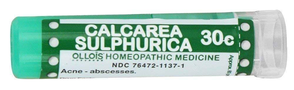 Ollois 30C Pellets Calcarea Sulphurica Homoeopathic Medicines - 80 Count
