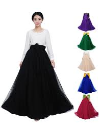 women maxi skirt summer bowknot waist chiffon pleated tiered dress