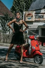 Vespa Girl Scooter Lambretta Scooters Motorcycle Girls Car Vintage Photos Greece Princesses