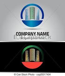 lignes bureau bâtiment logo vecteur lignes bureau urbain bâtiments