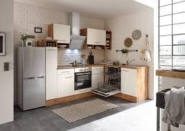 winkelküche küchenzeile l form küche einbauküche eiche weiß 250x172 cm respekta