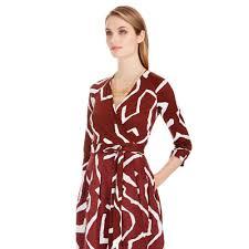 diane von furstenberg dvf jewel silk combo wrap dress in red lyst