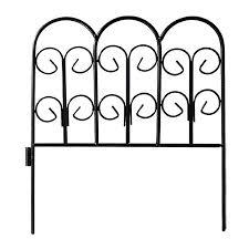 Decorative Garden Fence Border by Origin Point Scroll Top Rolled Garden Border Garden Fencing