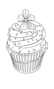 Best Cupcake Coloring Page For Kids