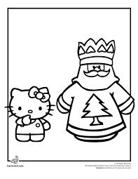 Hello Kitty Christmas Coloring Pages And Santa