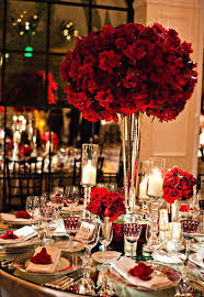 Amazing Red Rose Decorations Weddings 24 For Your Wedding Dessert Table With