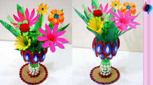 How To Make Flower Vase With Plastic Bottle Step By