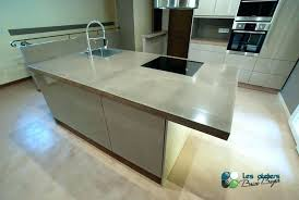 beton ciré cuisine cuisine beton cire pour credence with image plan de travail leroy me