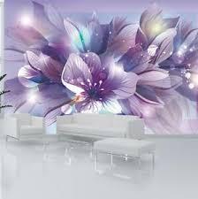 vlies fototapete blumen lila orchidee 3d effekt wohnzimmer