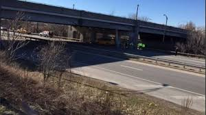 100 Truck Hits Overpass Rte198 Reopens After Cement Truck Hits Overpass