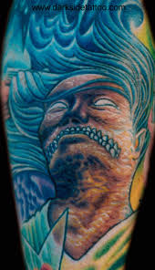 Tattoo Galleries Rotten Angel Face Detail Design