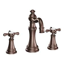 oil rubbed bronze two handle high arc wall mount bathroom faucet