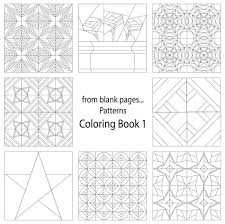 7 Name Quilting From Blank Pages Pattern Coloring Book 1