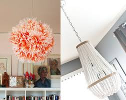 Coffe Filter Flower Lampshadebeaded Chandelier
