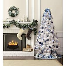 Kmart Small Artificial Christmas Trees by 7 U0027 Pre Lit Glacier White Pine Tree U2014kmart