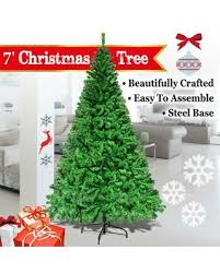 Strong Camel 7 Feet Artificial Christmas Tree With Solid Metal Stand Green Color