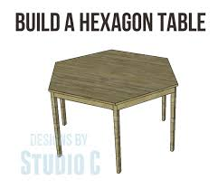 free furniture plans build hexagon dining table from cher ann