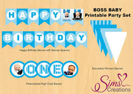 Bosss Day Decorations by Boss Baby Birthday Printable Party Pack Boss Baby Birthday