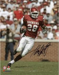 Adrian Peterson Oklahoma Sooners Signed 8