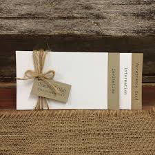 Rustic Wedding Invitation Tag