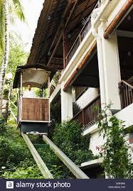 100 Hanging Gardens Of Bali Nese Man Rides The Funicular Or Tram At Ubud