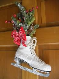 DIY Plow And Hearth Frosty Ice Skate Winter DecorationsOutdoor DecorationsChristmas