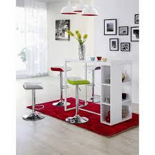 barna table bar 4 personnes 120x60 cm laqué blanc achat