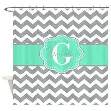 chevron bathroom decorgray mint green chevron monogram shower