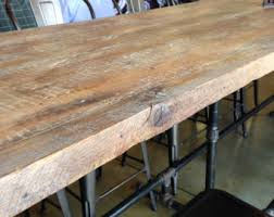 Reclaimed Wood Desk Top Office Furniture Modern Custom Reclaimed Wood Tables For Restaurants Home By Freshrestorations