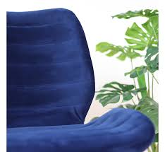 esszimmerstuhl samt toby modern blau 2 tage lieferzeit