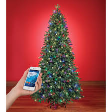 Blinking Xmas Tree Lights by The Music And Light Show Wi Fi Christmas Tree Hammacher Schlemmer