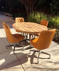 1960s Atomc Md Century Modern CHROMCRAFT Ktchen Table Taco ... Chromcraft Core C318 Swivel Tilt Caster Arm Chair Tilt Caster Ding Chairs By Castehaircompany C Etteding Table And 6 C177 Chromcraft Ding Room Set Table Chairs Black Chrome Craft Sculpta Set 1960s Sets With Casters Insidtiesorg Inspirational Fniture Kitchen Wheels Home Design Dingoom Il Fxfull Sets With Rolling Modern Indoor Corp 1969 Dinette On Chairishcom In 2019
