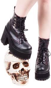 demonia gothic goth punk assault 100 platform ankle boots double d