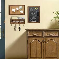 chasbete 3er set kreidetafel pinnwand und schlüsselbrett mit ablage wandmontage tafel korkpinnwand ablagekorb für eingang büro flur küche