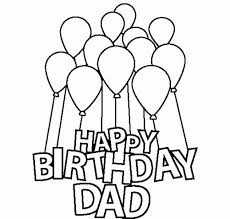 Happy Birthday Dad Coloring Pages For Kids