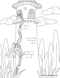 Tangled Rapunzel Printable Coloring Pages Princess To Print Color On Line Drawings