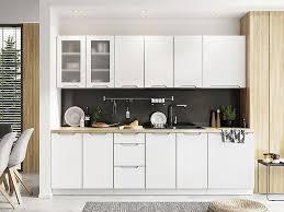 grifflose einbauküche küchenzeile zoya 260 cm 8 teilig in