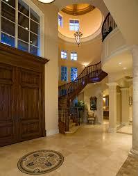 Entry Foyer Mediterranean With Floor Medallion Tile
