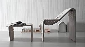 original design armchair leather with footrest beige skin