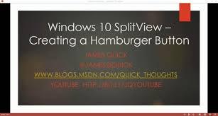 am駭ager un petit bureau splitviewhamburgerbutton 512 jpg