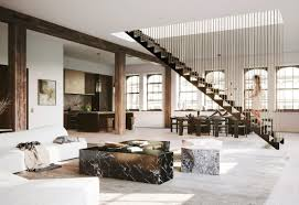 100 New York Loft Design Hanging Staircase Divides Spacious Loft By DJDS